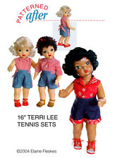 """Tennis Sets Clothing Pattern For 16"""" Terri Lee Doll"""