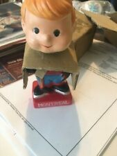 1960s Montreal Canadians Mini Bobblehead Nodder, 4 3/4 Inches, NOS with Box