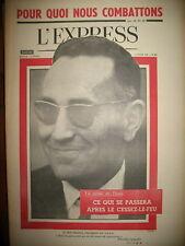556 ALGERIE BEN KHEDDA G.P.R.A. GREVE MINE DECAZEVILLE HARPO MARX L'EXPRESS 1962