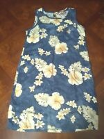 Caribbean Joe Women's Hawaiian Floral Jumper Dress Sleeveless Cruise Tunic PM