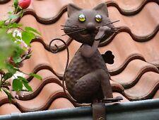 Katze Dachrinnenfigur Dekoration Dachschmuck Gartendekoration Zierfigur