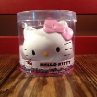 New Hello Kitty Ceramic Piggy Bank Hello Kitty Head with Pink Bow Coin Bank