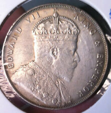1907 KEVll $1 silver crown coin-very high grade!