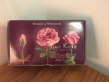WOODS OF WINDSOR TRUE ROSE FINE ENGLISH SOAP 3 X 100G GIFT BOX PRESENT SET HAND