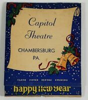 Chambersburg Pa Capitol Theater Merry Xmas Large Matchbook Matches Partial L8