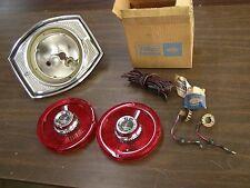 NOS OEM Ford 1965 Galaxie Custom 500 Tail Light Lamp Lenses + 1 Housing Bezel