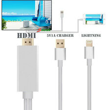 2M Apple Lightning Connect to HDMI TV AV Cable Adapter for iPhone 5 5S 6 6S iPad