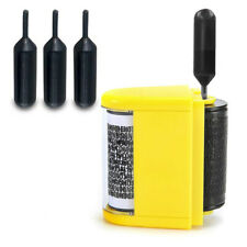 3pcs Refill Ink Black Ink for Identity Guard Theft Protection Roller Stamp Black