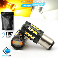 Syneticusa:1157/2057 Switchback White/Ambe​r 3030 Chip 40-LED Turn Signal Bulbs