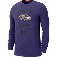 Nike Baltimore Ravens Salute To Service Sideline Performance Long Sleeve T-Shirt