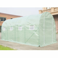 Heavy Duty Walk In Green House Cover Frame Dome Kit Plant Outdoors 16'x7'X7'