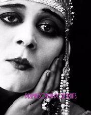 "THEDA BARA 8X10 Lab Photo 1917 ""CLEOPATRA"" Eyes Close-Up Silent Era Portrait"