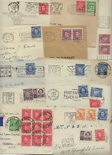 Australia 1930s 40s Collection Of 14 Covers To Us Franked K George Vi Issues Var