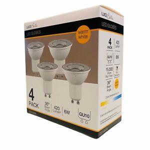 Luce Bella LED GU10 globes 4 Pack 420 LM 6W Warm White 36 Degree downlights new