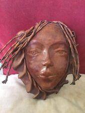 Male Face Mask,an Unusual Rastafarian Papier-Mâché Wall Mask