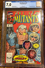 The New Mutants #87 1st Appearance Of Cable CGC Great Looking Cover Lots Of Pics