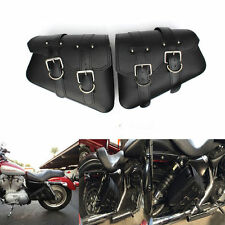 2PCS Motorcycle Saddle Bags Side Storage For Harley Sportster XL883 XL1200