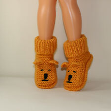 PRINTED  INSTRUCTIONS-CHILDRENS TEDDY BEAR SLIPPER BOOTS KNITTING PATTERN
