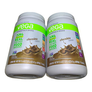 Vega Essentials Protein Powder Chocolate 21.6 Ounce Lot of Two Best Before 05/20