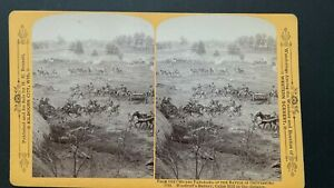 Gettysburg Stereoview 1734 Woodruff's Battery by H H Bennett
