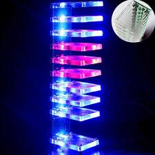 Fun DIY LED Dream Crystal Electronic Column Light Cube Music Voice Spectrum Kit