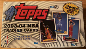 2003-04 Topps Basketball Factory Sealed Box Set 1-265 w LEBRON JAMES RC 221