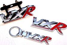 VXR Badge Set Chrome & Red Plus Keyring Rear Tailgate Grill Vauxhall Opel