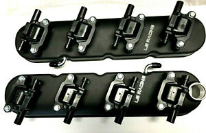 LS RACING Tall Rocker Covers Black + 8 LS R Coils LS1 LS2 LS3 LS7 VT VY VZ VE VF