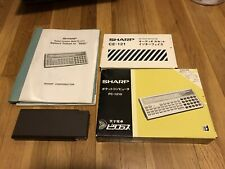 Vintage SHARP PC-1210 WITH CE-121 ALL Original Box And Manuals In Mint Cond