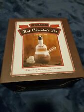 NEW Williams Sonoma Hot Chocolate Glass Pot with Frother