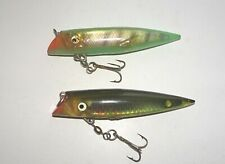 2 SALMON PLUG LURES ~ Unbranded, Green, Gold