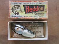 Vintage Heddon 2100 Crazy Crawler XRS Wood Lure EXCELLENT CONDITION W/ ORIG BOX