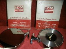 VINTAGE NEW PAIR RARE FORD SIDE VIEW MIRRORS IN BOX 1960S FALCON MERCURY LINCOLN