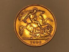 More details for 1914 george v gold half sovereign. nice example