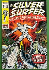 Silver Surfer #18 FN 1970 Vs the Inhumans Stan Lee Kirby 1st Print Marvel Comics