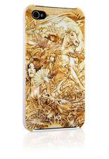 WHITE Diamonds Apple iPhone 4/4s CASE GUSCIO COVER Last Samurai ORO