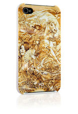 White Diamonds Apple iPhone 4 / 4S Case Hülle Cover Last Samurai Gold