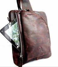 Genuine natural leather bag classic shoulder Messenger cross body soft handmade