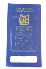 Promotional RBC Debit Card Royal Bank Canada Expo 86 Advertisement Booklet G912