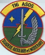 116 AIR SUPPORT OPERATIONS SQUADRON AIR FORCE SQUADRON PATCH