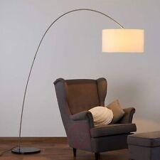 LED Stehleuchte Bogenlampe Bogenstehleuchte Stoffschirm Weiß E27 LED Lampe