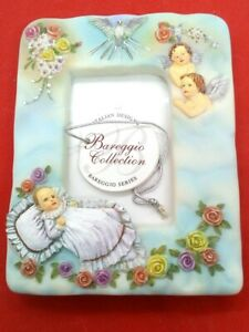 Authentic Bareggio Collection Baptism Photo Frame, Made in Italy