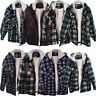 Mens Lumberjack Sherpa Fur Fleece Lined Hoodie Jacket Hooded Work Padded Shirt