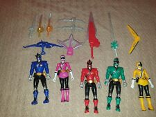Bandai Power Rangers Samurai Series Action Figures Bundle
