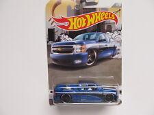 Hot Wheels New - Walmart Trucks Series - Blue Chevy Silverado