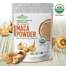 Maca Gelantized Powder Natural Energy Organic Raw Gluten Free by Alovitox 8 oz