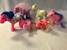 Lot of 6 FAKIES Fake My Little Pony Blue Pink Orange PVC Figures Toys Horses