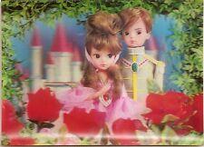 Pricne & Prncess Castle 3-D Lenticular Vintage Postcard Printed in Japan