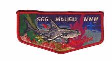 566 MALIBU WWW O.A. 75TH ANNIVERSAR Embroidered Patch -  Applique IRON ON
