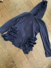 Adorable Essentials Navy Blue Ruffle Hoodie Size 10